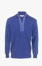 Piece of Blue 1/4 zip trui - Dark Indigo Blue