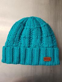 Weird Fish Scotia Knit Beanie Hat - Pagoda Blue
