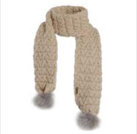 Weird Fish Corey Textured Knit Scarf - Chalk