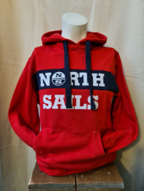 North Sails Comfy Hoody Kangoeroezak Rood
