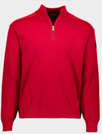 Paul & Shark Knitted Zipped Pullover - Red