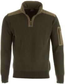 Paul & Shark - Maritime Knit 1/4 Zip Sweater Wool - Army Green