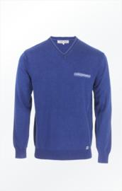 Piece of Blue V-neck pullover - Dark Indigo Blue