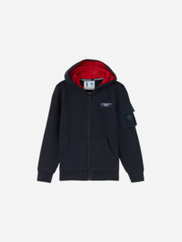 North Sails / PRADA Kids - Stretch Fleece Sweatshirt Vest Full Zip - Dark Navy