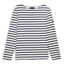 Saint James Meridame II Breton Striped shirt Ecru-Navy