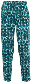 Weird Fish - Printed Viscose Trousers - Tinto - Bottle Green - SS21