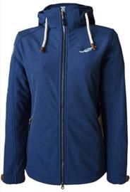 Dry Fashion Softshell Spiekeroog - Navy melange - Removable hood
