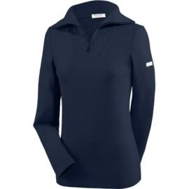 Saint James Passerelle II U Sweater 1/4 zip Wool Navy (W)