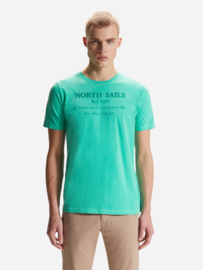 North Sails - T-SHIRT S/S W/GRAPHIC - Blarney Green -SS21