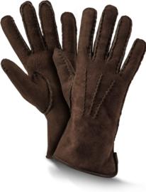 Fellhof Premium Lamsleren Handschoenen Heren - donkerbruin