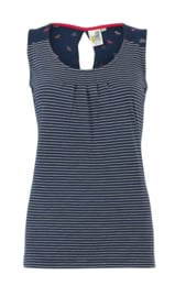 Weird Fish - Eco Jersey Vest -  Nilly - Navy Blue - SS21