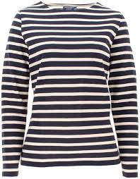 Saint James Meridame II Breton Striped shirt Navy-Ecru