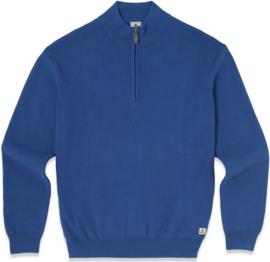 Mousqueton Popy 1/4 zip sweater - Outremer