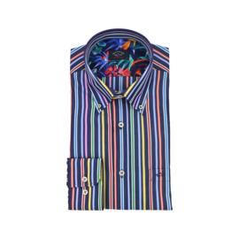 Paul & Shark Striped organic cotton shirt