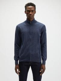 North Sails Full Zip Wool Vest 12GG - Blue Melange