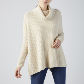 HL Loose Rollneck Cape Soft Beige