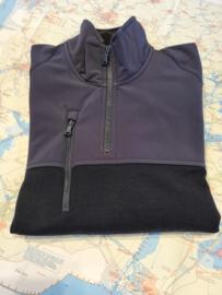 Paul & Shark - Wool Sweater with softshell shoulders half zip - navy S21/22