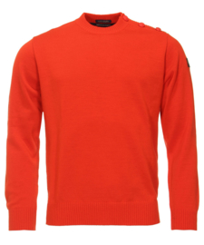 Paul & Shark - Bretagne Button Shoulder Merinowool R-neck - Red