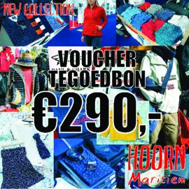 Voucher t.w.v. €290,- voor slechts €250,-