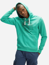 North Sails - HOODED SWEATER W/GRAPHIC - Blarney Green - SS21