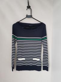 Henri Lloyd CATOLINA crew neck stripe knit - Navy