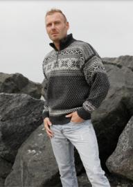 Noorse Trui van 100% pure nieuwe wol - donkergrijs
