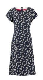 Weird Fish - Organic Printed Jersey Dress- Tallahassee - Navy Blue - SS21