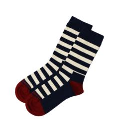 Mousqueton BERLOER sokken - Marine/Ecru/Chili