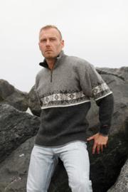 Norwool Noorse Trui  - 100% pure nieuwe wol - licht/donkergrijs (uniseks)