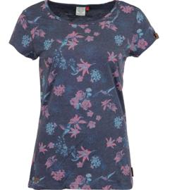 Ragwear MINT FLOWERS T-shirt - Navy