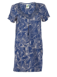 Weird Fish - Embroidered Viscose Tunic - Santo - Ensign Blue - SS21