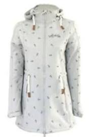 Dry Fashion Softshell Kampen - Hellgrau melange - Removable hood