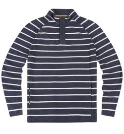 Mousqueton Marnod Marine / Blanc - Sweater met 1/4 rits