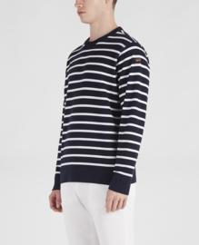 Paul & Shark Trui - Striped Organic Cotton Crew Neck Sweater - Breton Stripe
