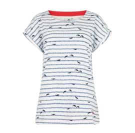 Weird Fish PawPaw Printed Jersey T-shirt Light cream (w)