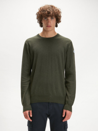 North Sails Round Neck Wool Sweater 12GG - Forest Green