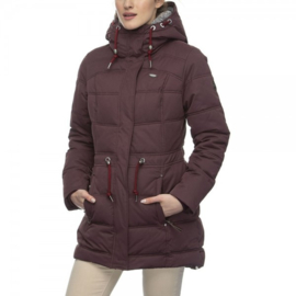 Ragwear Ashani Puffy winterjas - red wine  (W)