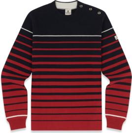 Mousqueton Tremael Sweater - Marine/Chili/Ecru
