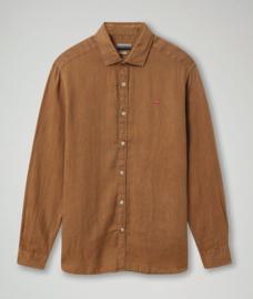 Napapijri Gervas LS Shirt - Kangeroo Brown