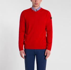 Paul & Shark Merino extra fine v-neck pullover red
