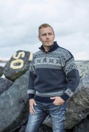 Noorse Trui van 100% pure nieuwe wol - donkerblauw