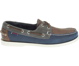 Sebago Spinnaker Leather Brown/Navy/Grey
