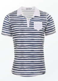 Piece of Blue Polo - Blauw/Wit