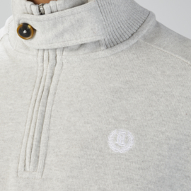 HL Super Soft Cotton Fleece 1/2 Zip Snow Grey