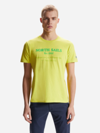 North Sails - T-SHIRT S/S W/GRAPHIC - Sulphur Spring Yellow - SS21