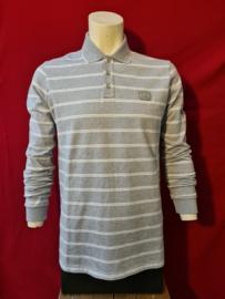 Paul & Shark Rugby Shirt Grey/White Stripe