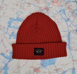 Paul & Shark Knitted Cap / Beanie / Hat  - rust red