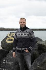 Norwool Noors Vest met Rits  - 100% pure nieuwe wol - donkerblauw (mens-fit)