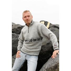 Norwool Noorse Trui  - 100% pure nieuwe wol - lichtgrijs (uniseks)