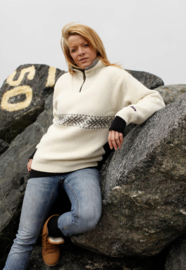 Windstopper Sweater of 100% pure wool - ecru